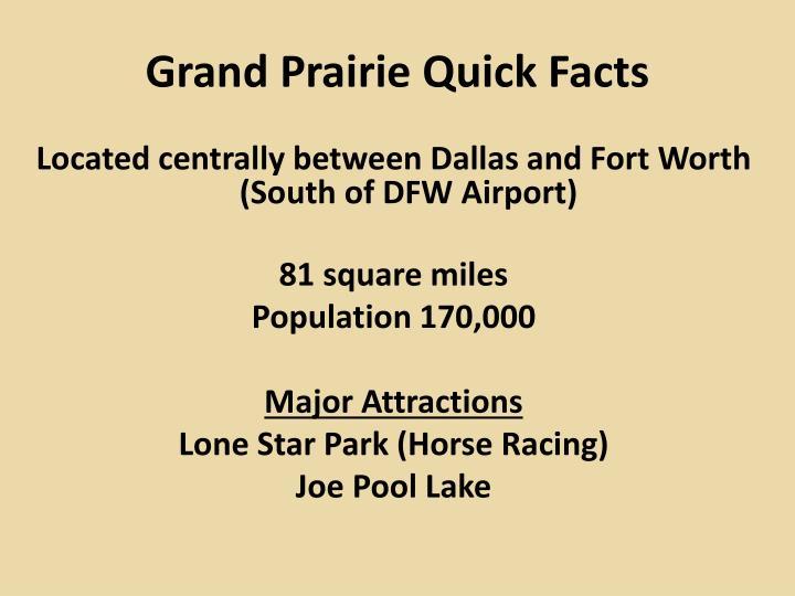 Grand Prairie Quick Facts