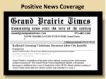 positive news coverage