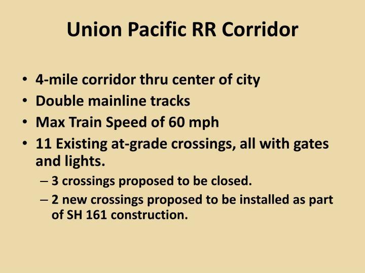 Union Pacific RR Corridor