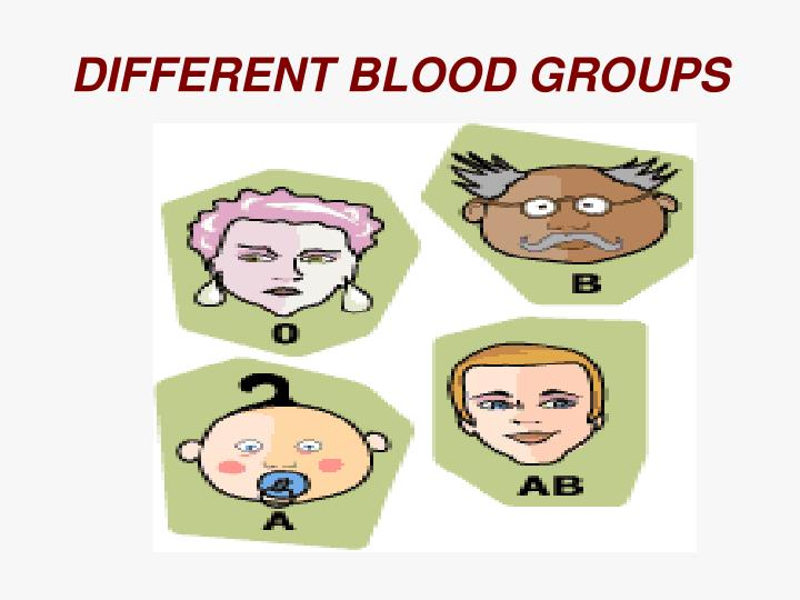 Different blood groups