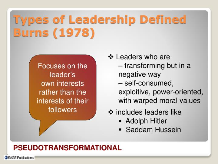 Leaders who are