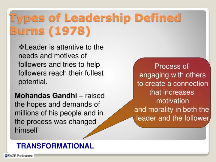 Leader is attentive to the needs and motives of followers and tries to help followers reach their fullest potential.