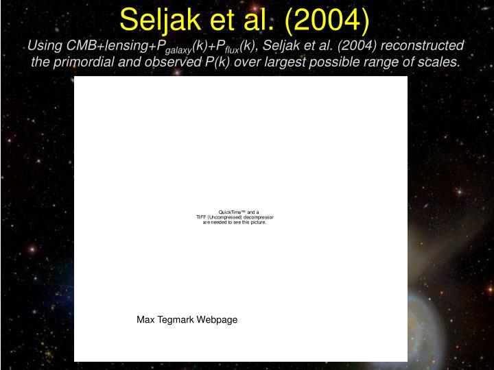 Seljak et al. (2004)