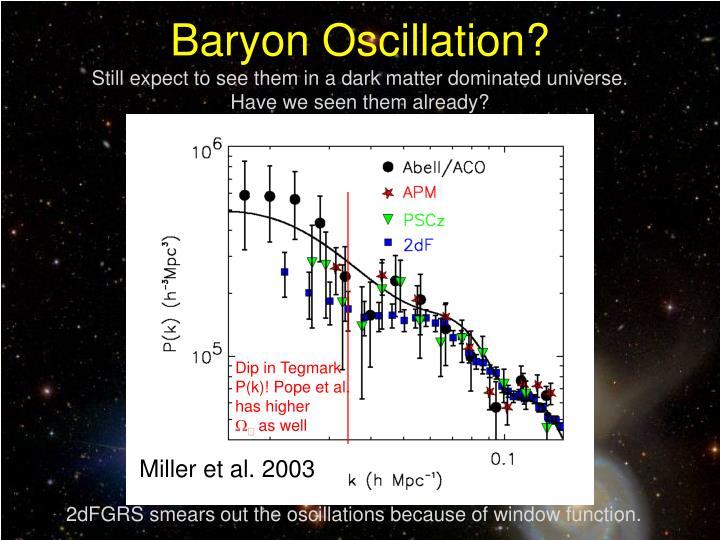 Baryon Oscillation?
