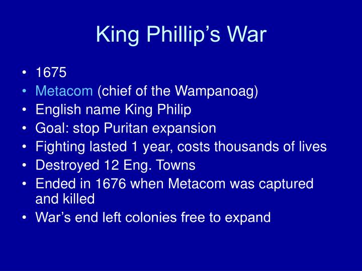 King Phillip's War
