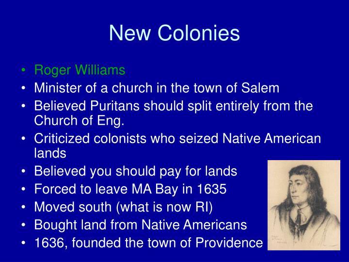 New Colonies
