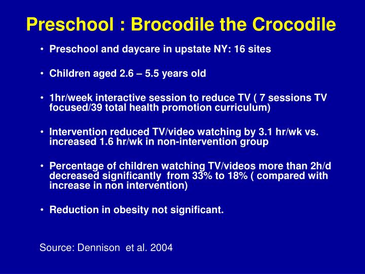 Preschool : Brocodile the Crocodile