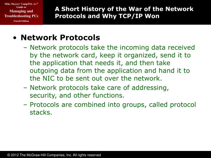 A Short History of the War of the Network Protocols and Why TCP/IP Won