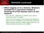 domains continued2