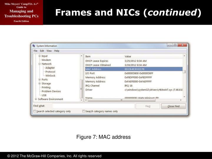 Frames and NICs (