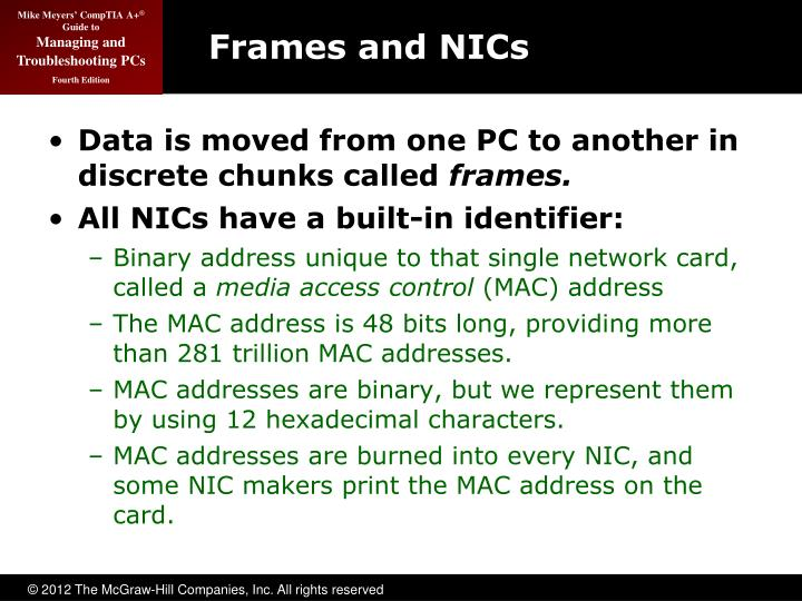 Frames and NICs