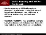 lans routing and wans continued2