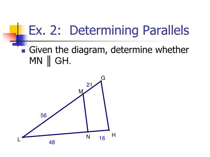 Ex. 2:  Determining Parallels