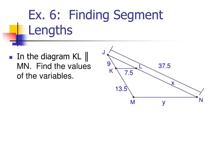 In the diagram KL
