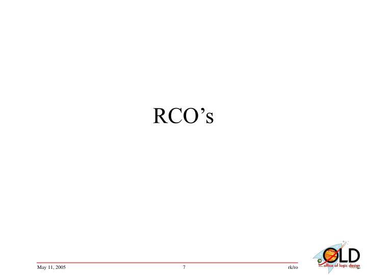 RCO's