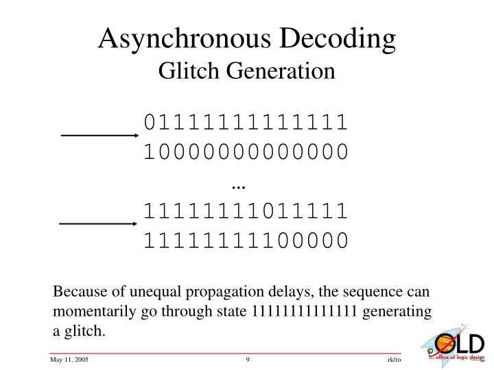 Asynchronous Decoding