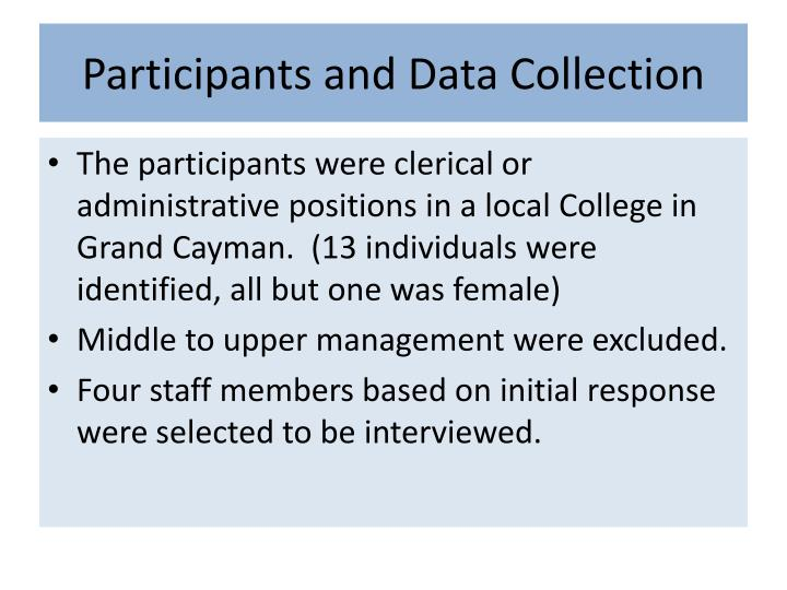 Participants and Data Collection