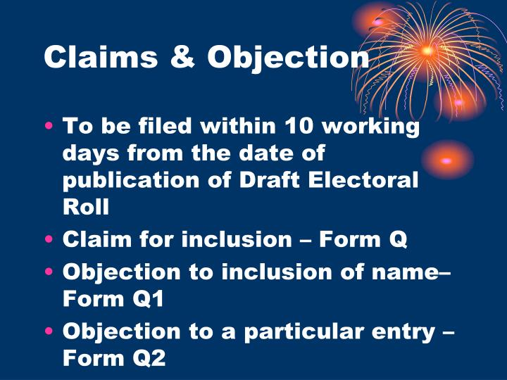 Claims & Objection