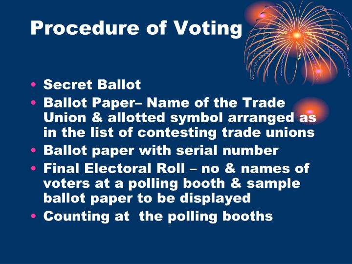 Procedure of Voting