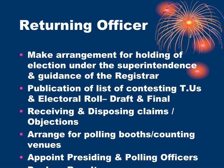 Returning Officer
