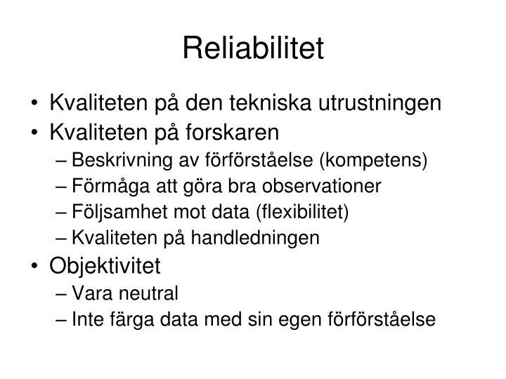 Reliabilitet