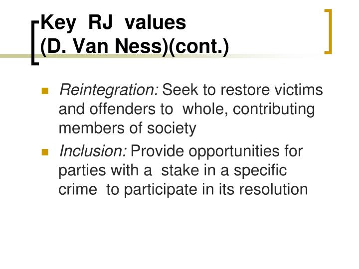 Key  RJ  values
