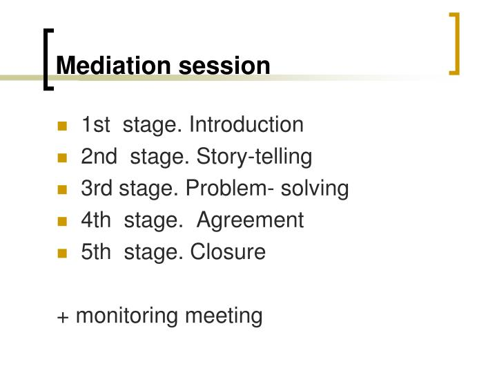 Mediation session
