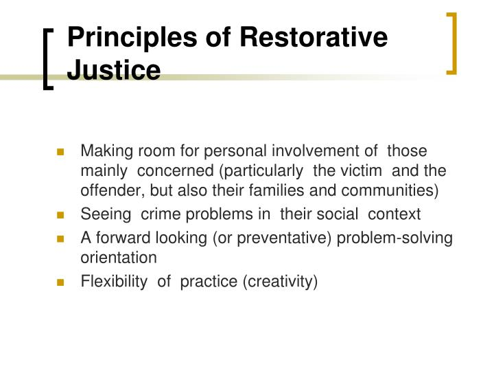 Principles of Restorative Justice