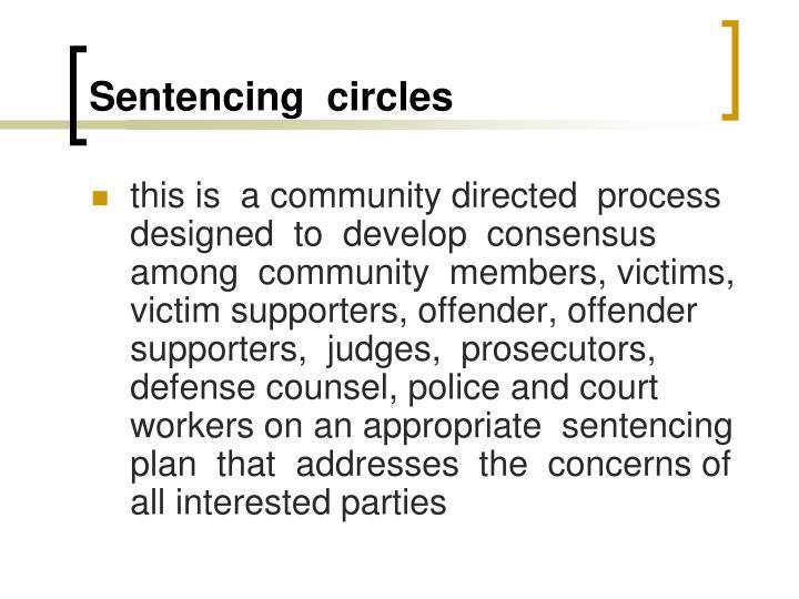 Sentencing  circles
