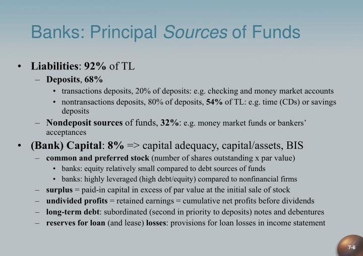 Banks: Principal