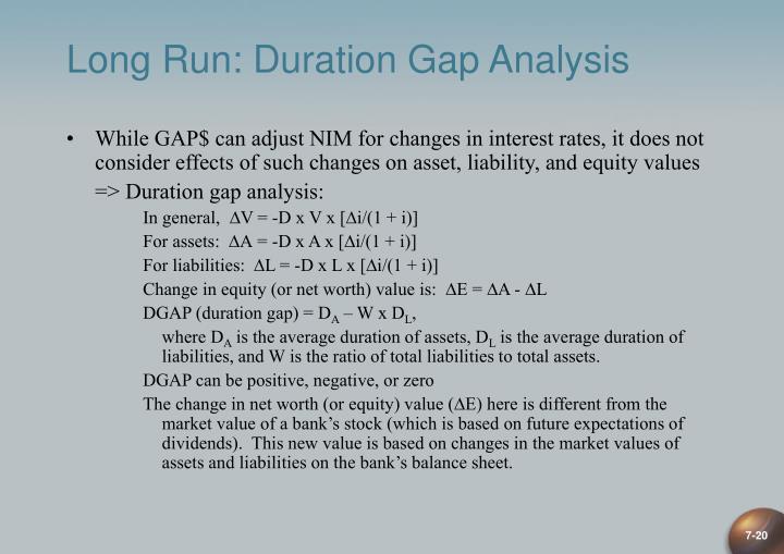 Long Run: Duration Gap Analysis