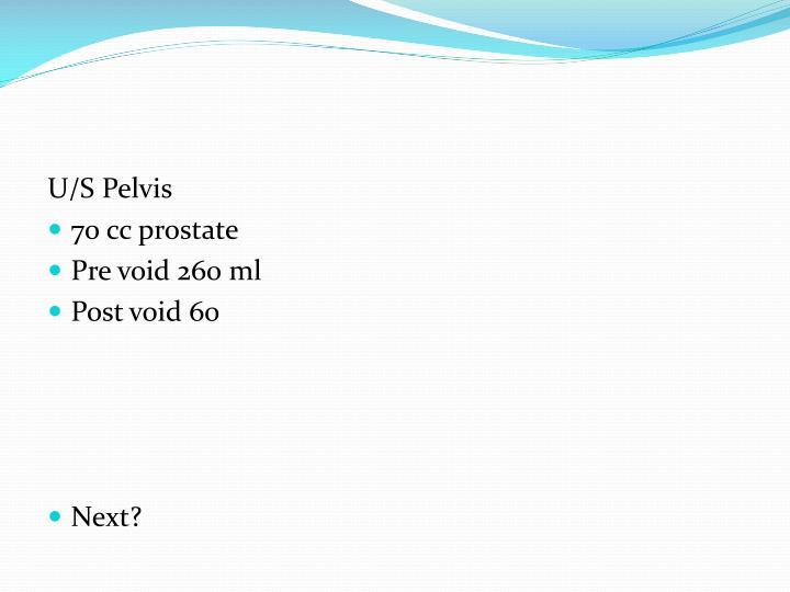 U/S Pelvis