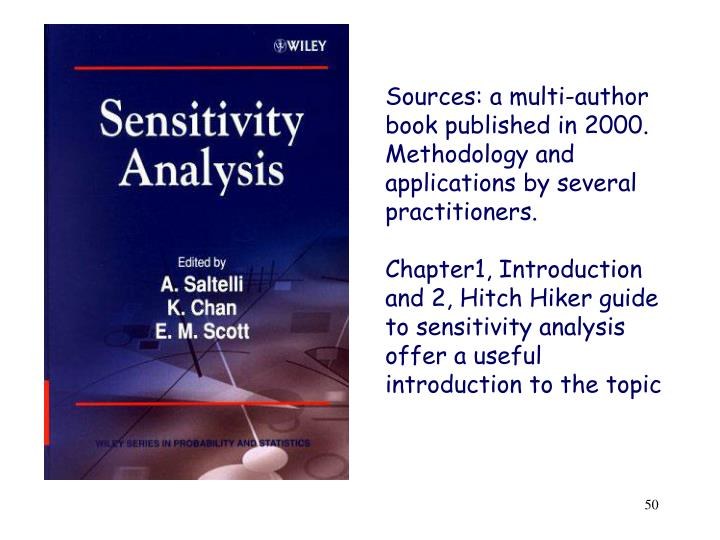 Sources: a multi-author book published in 2000. Methodology and applications by several practitioners.