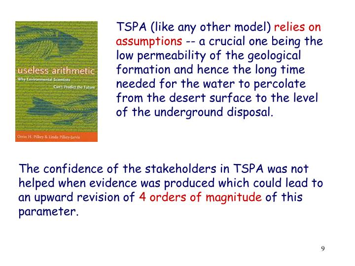 TSPA (like any other model)