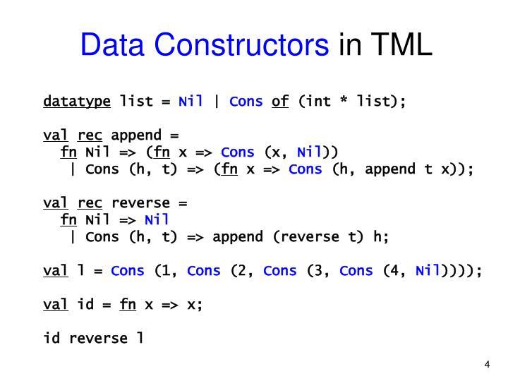 Data Constructors