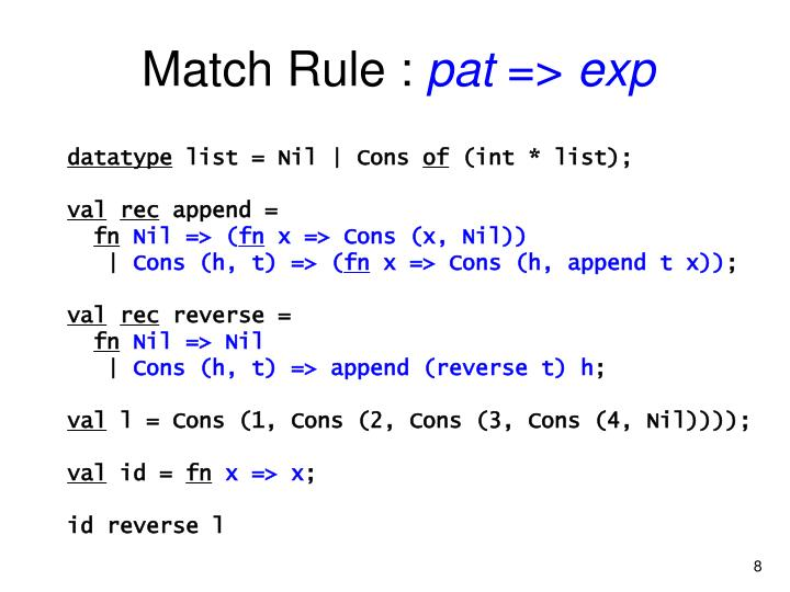 Match Rule :