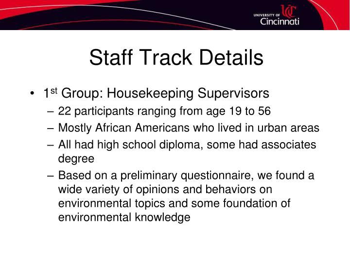 Staff Track Details