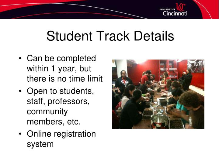 Student Track Details