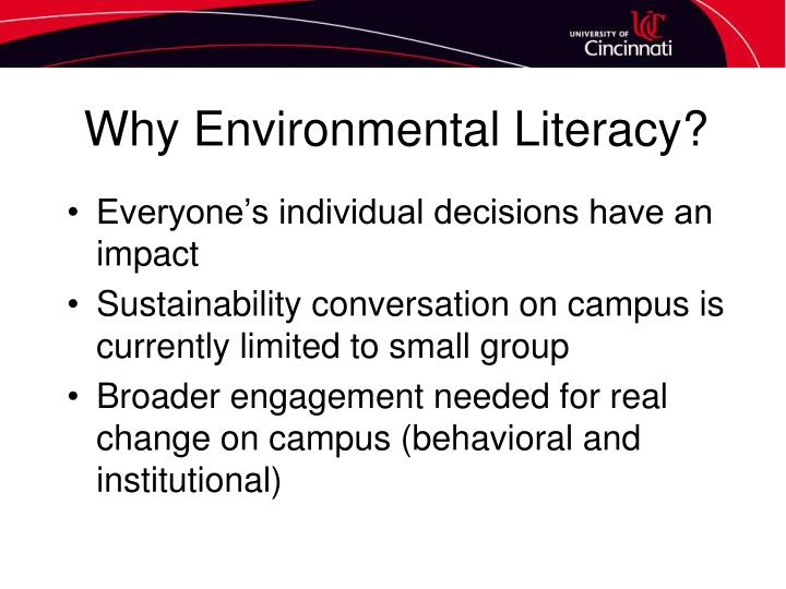 Why Environmental Literacy?