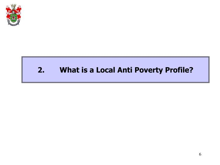 2.What is a Local Anti Poverty Profile?