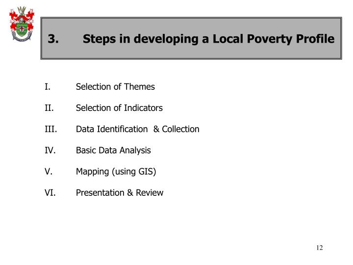 3.Steps in developing a Local Poverty Profile