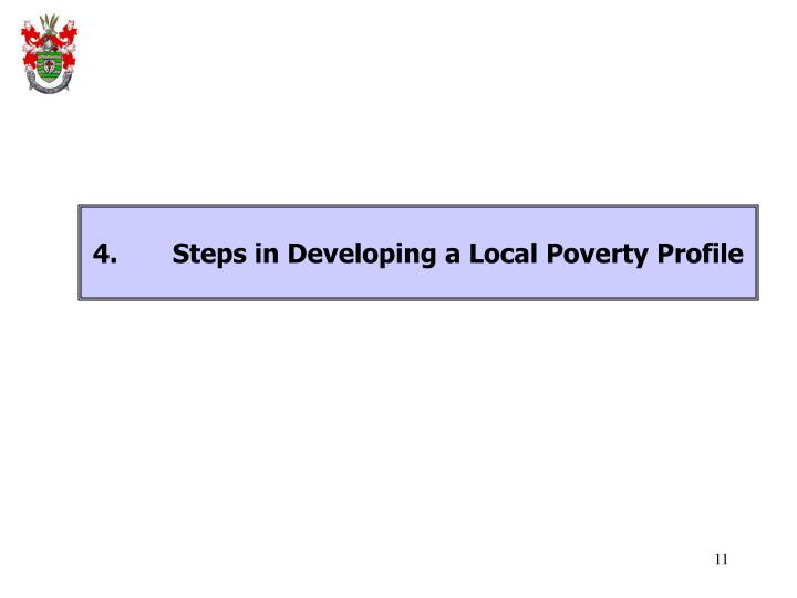 4.Steps in Developing a Local Poverty Profile