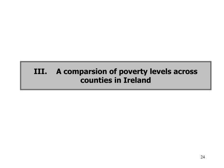 III.A comparsion of poverty levels across counties in Ireland