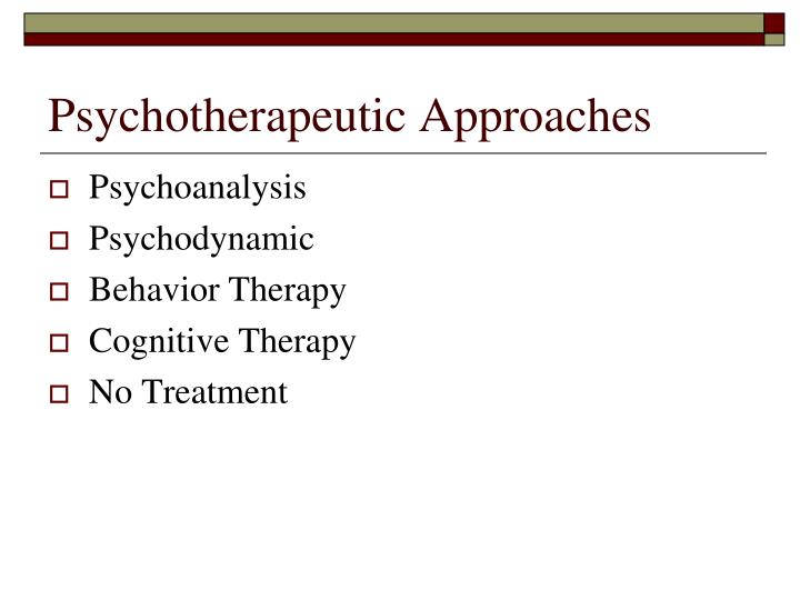 Psychotherapeutic Approaches
