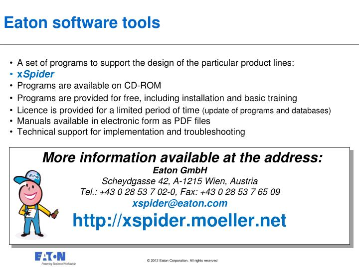 Eaton software tools