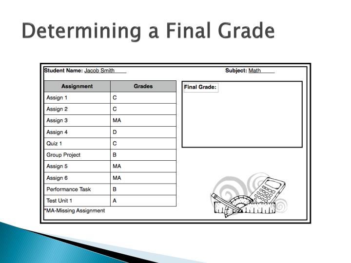 Determining a Final Grade