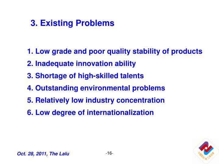3. Existing Problems