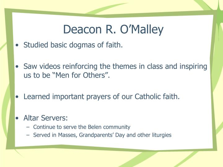 Deacon R. O'Malley
