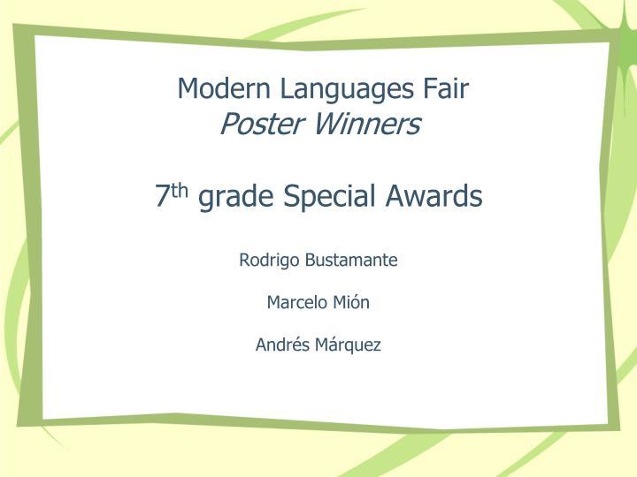 Modern Languages Fair