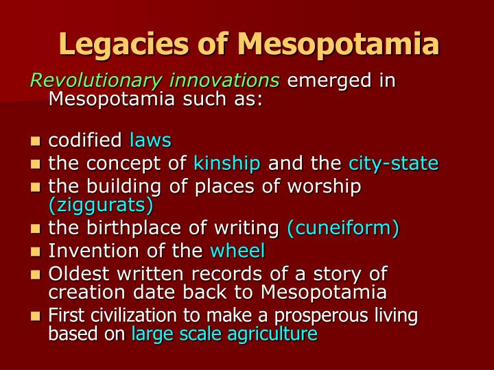 Legacies of Mesopotamia
